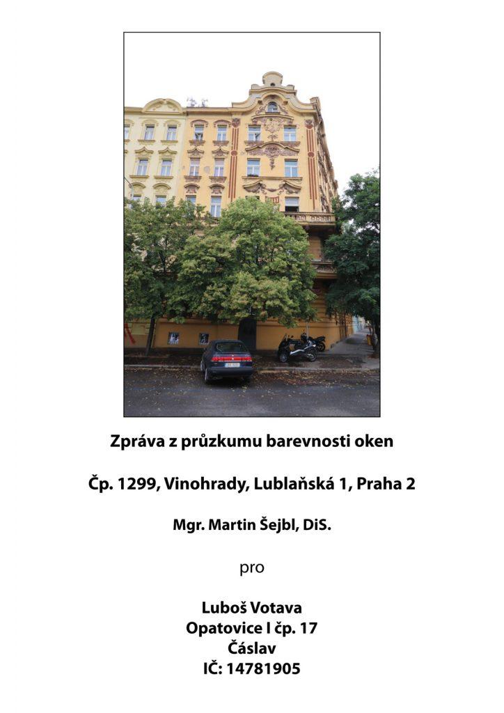 Průzkum barevnosti oken v Praze na Vinohradech